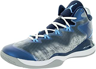 air Jordan Super.Fly 3 Mens hi top Basketball Trainers 684933 Sneakers Shoes (US 10, White University Blue Midnight Navy 107)