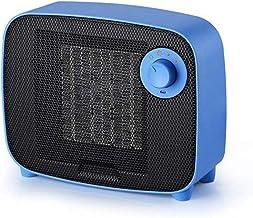 MYRCLMY 1500W Mini Portátil Caliente del Calentador Eléctrico De Escritorio De Calefacción del Aire del Ventilador Home Office Pared Práctico Calentador De Aire Cálido Baño Radiador Ventilador,Azul