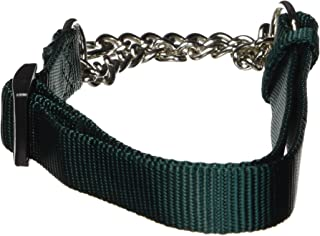 "Hamilton Adjustable Combo Choke Dog Collar, Dark Green, Medium, 3/4"" x 18-26"""