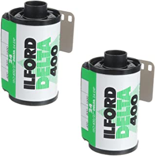 Ilford Black and White 1748192 Delta Pro Fast Fine Grain Film, ISO 400, 35mm, 36 Exposures (2 Pack)