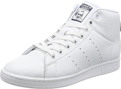 adidas Stan Smith Mid, Sneaker Col Roulé Homme, Blanc Cassé (Ftwr ...