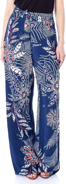 Desigual Women's 19SWPW25blueE bluee Viscose Pants