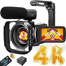دوربین فیلمبرداری 4K دوربین فیلمبرداری با میکروفون Ultra HD 30MP YouTube Vlogging Camera 3.0 Inch Touch Screen 16X Digital Zoom دوربین ضبط کننده دوربین با تثبیت کننده دستی و کنترل از راه دور