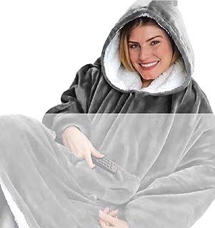 Tuopuda Mujer Sudadera Tipo Manta Manga Larga Sudadera Tops Chaqueta Otoño Invierno Talla Grande Fleece Warm Cozy Comfy We...