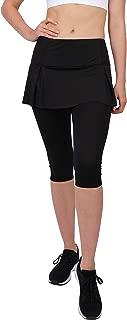slimour Women Skirted Leggings High Waist Capri Leggings with Pockets Workout Pants Yoga