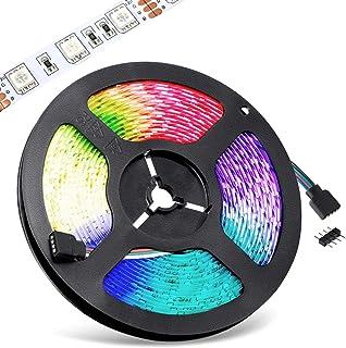 1m / 2m / 3m / 4m / 5m Multicolor DC 12V No Impermeable IP20 Flexible Autoadhesivo Cinta Lámpara Ligero Hada Luz Tiras de RVA (RGB) SMD LED (60LEDs/m) Iluminación (3 Metros)