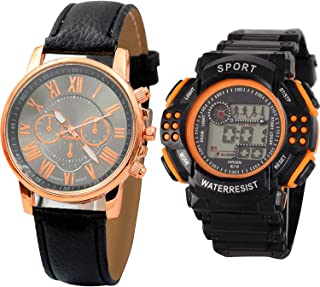 NIKOLA Sports Analogue Black Color Dial Boys Watch - B192-B154 (Pack of 2)