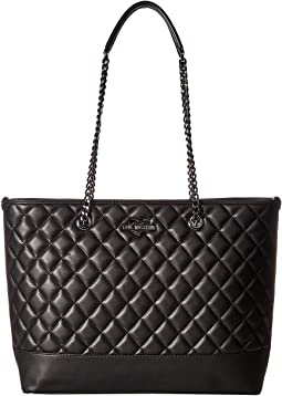LOVE Moschino Metallic Quilted Shopping Bag