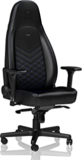 noblechairs ICON Gaming Chair - Office Chair - Desk Chair - PU Faux Leather - Ergonomic - Cold Foam Upholstery - 330 lbs - Racing Seat Design - Black/Blue