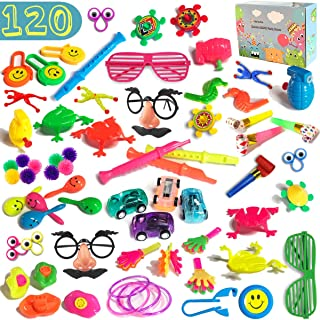 120 PCS Party Favors Toy Assortment for Kids Bulk Toys for Birthday Favors, Pinata Fillers, Carnival Prizes, Classroom Rewards, Treasure Chest Toys, G