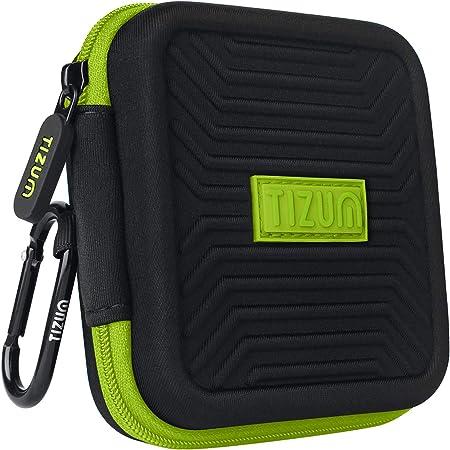TIZUM Travel Organizer Case for Earphones, Pen Drives, Memory Card, Data Cable (Black)