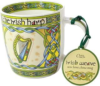 Irish Harp bone china mug - Irish gift designed in Galway Ireland