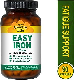 Country Life - Easy Iron, 25 mg - 90 Vegetarian Capsules