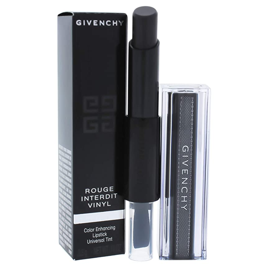 説教シード弱いジバンシィ Rouge Interdit Vinyl Color Enhancing Lipstick - # 16 Noir Revelateur 3.3g/0.11oz並行輸入品