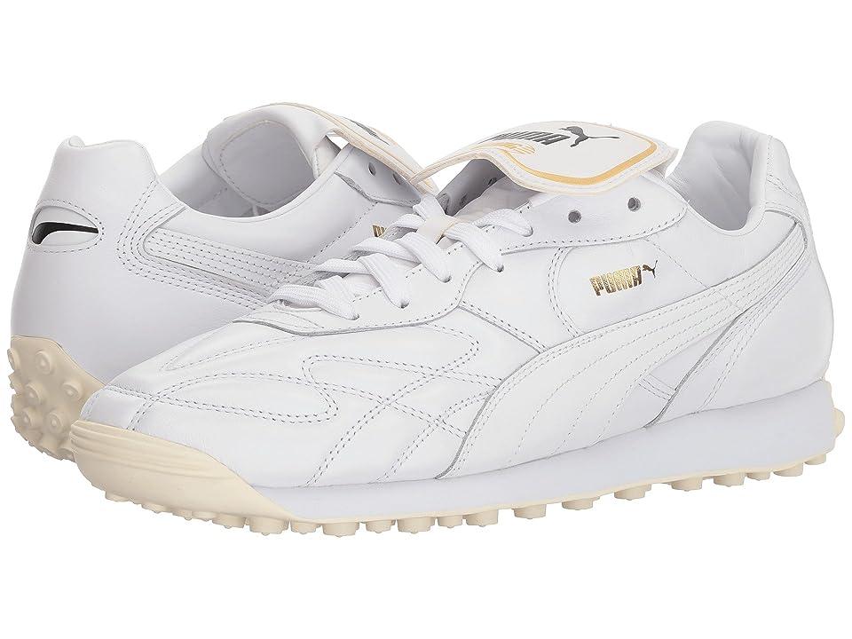 PUMA King Avanti Premium (Puma White/Puma Team Gold/Whisper White) Men