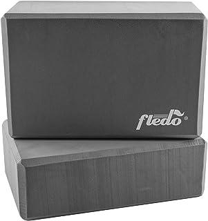 "Fledo Yoga Blocks (Set of 2) 9""x6""x4"" - EVA Foam Brick, Featherweight and Comfy - Provides Stability and Balance - Ideal f..."