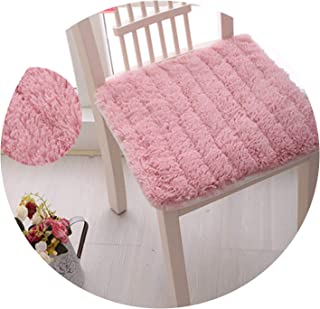 Fluffy and Soft Plush Fabric Dining Office Chair Seat Cushion,Decorative Pillows for Home,Children Decor Pillow,Pink 1,About 45X45Cm