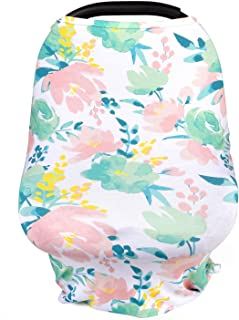 5-in-1 Stretchy Floral Baby Car Seat Covers, Nursing Scarf, Breastfeeding Canopy