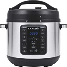 Crock-pot SCCPPC800-V1 8-Quart Multi-Use XL Express Crock Programmable Slow Cooker with Manual Pressure, Boil & Simmer, 8QT, Stainless Steel
