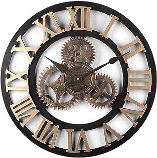 iVansa 50 cm Horloge Murale Vintage Silencieux Horloge Pendule Murale en Chiffres Romains pour Salon, Salle, Chambre, Cuis...