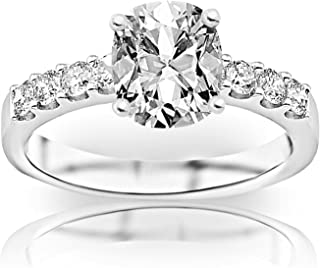 1.03 Carat GIA Certified Classic Prong Set Diamond Engagement Ring (I Color, SI1 Clarity) - Cushion Cut/Shape