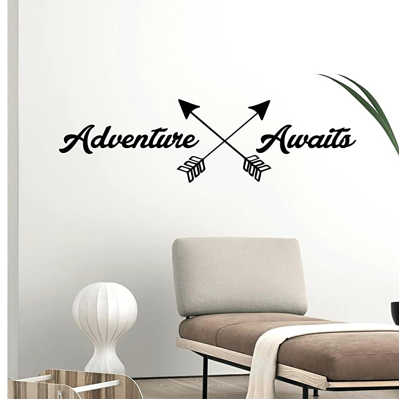 Adventure Awaits Lettering - Inspirational Life Quotes - Wall Art Decal - 11