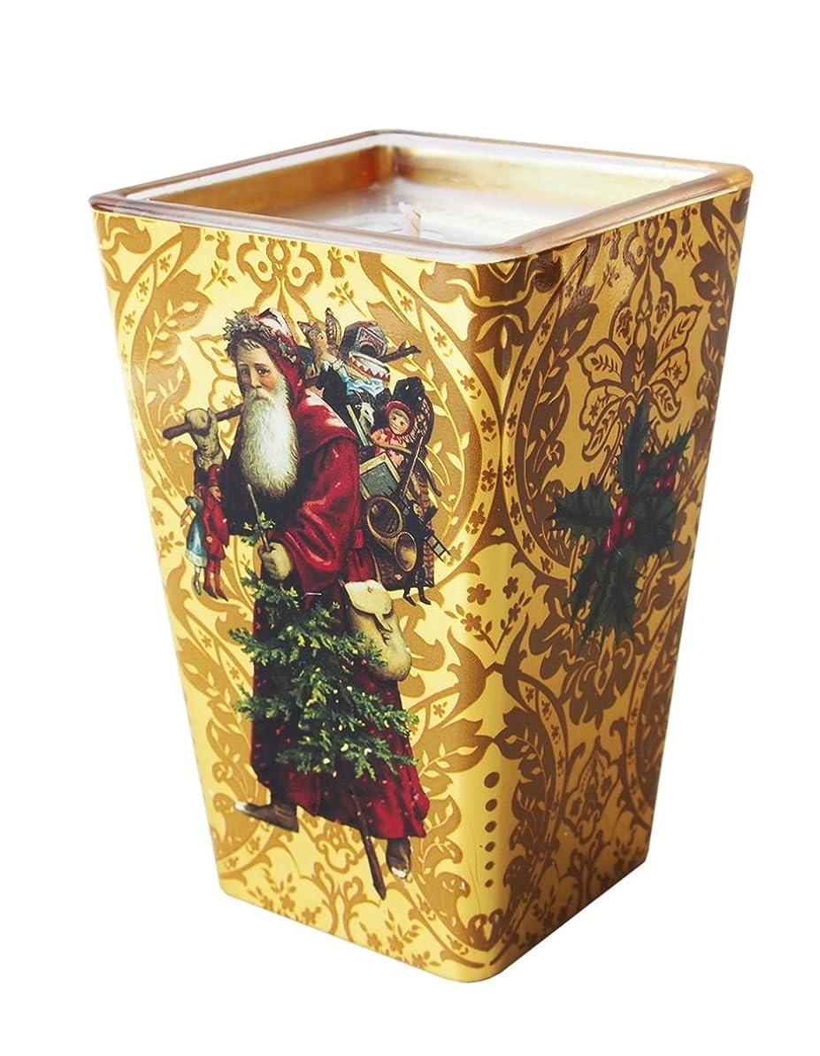 より多い緑氏FRINGE STUDIO 【クリスマス】 アロマ キャンドル (ゴールド×サンタクロース) F412170