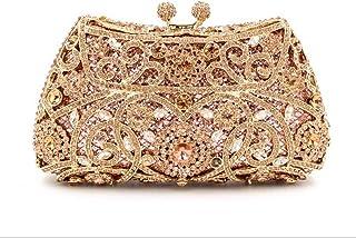 2019 New Evening Bag Rhinestone Clutch Bag Women's Personality Creativity Shoulder Bag Rhinestone Crystal Crossbody Bag,Yellow,16.5 * 8.5 * 5cm