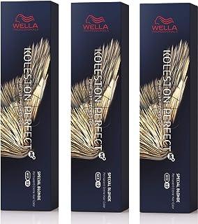 Wella Koleston Perfect Me+ KP SPECIAL BLONDS 12/81 - Tinte para el pelo, 3 unidades, color rubio perla