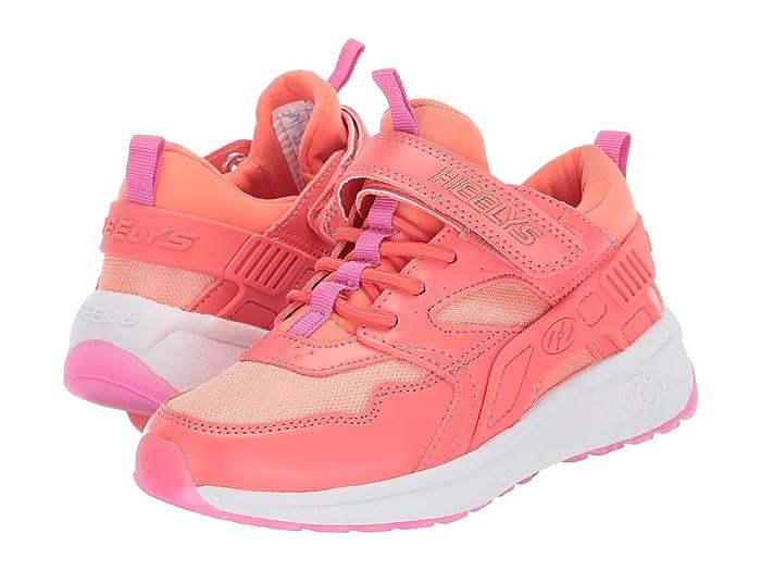 Heelys  Force x2 (Little Kid/Big Kid) (Papaya/Hot Pink) Girls Shoes