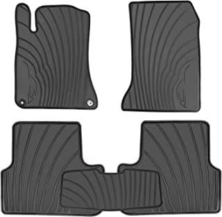 HD-Mart Car Floor Mats Liners Custom Fit for Mercedes Benz A Class 2012-2019/B Class 2013-2019 GLA 2014-2019 Full Black Rubber Set All Weather Protection Heavy Duty Odorless