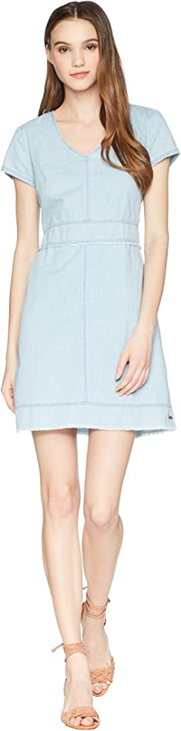 Frayed Denim Dress