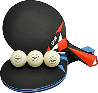 Kettler HALO X Indoor/Outdoor Table Tennis Bundle: 2 Player Set (2 Rackets/Paddles and 3 Balls)