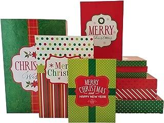 10 Christmas Holiday Gift Boxes (Christmas Assorted)