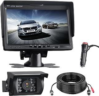 $66 » RV Backup Camera System, 7 inch Monitor Vehicle Backup Camera, Waterproof Rear View Camera with Night Vision 18 IR LED Rev...