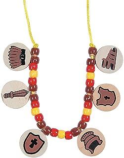 Fun Express - Armor of God Necklace Craft Kit - Craft Kits - Kids Jewelry Craft Kits - Kids Necklace - 12 Pieces