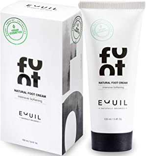 Natural Vitalizing Foot Cream by Equil Cosmetics - Softens & Revives Dry & Tired Feet - Intense Moisture Treatment - Jojoba Oil - Avocado Oil - Tea Tree & Lemon, 3.4 fl. Oz