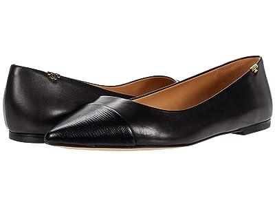 Tory Burch Penelope Cap-Toe Flat (Perfect Black) Women