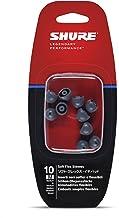 Shure EASFX1-10M Medium Soft Flex Sleeves (10 Included/5 Pair) for SE115, SE315, SE425 & SE535 Earphones (Black)