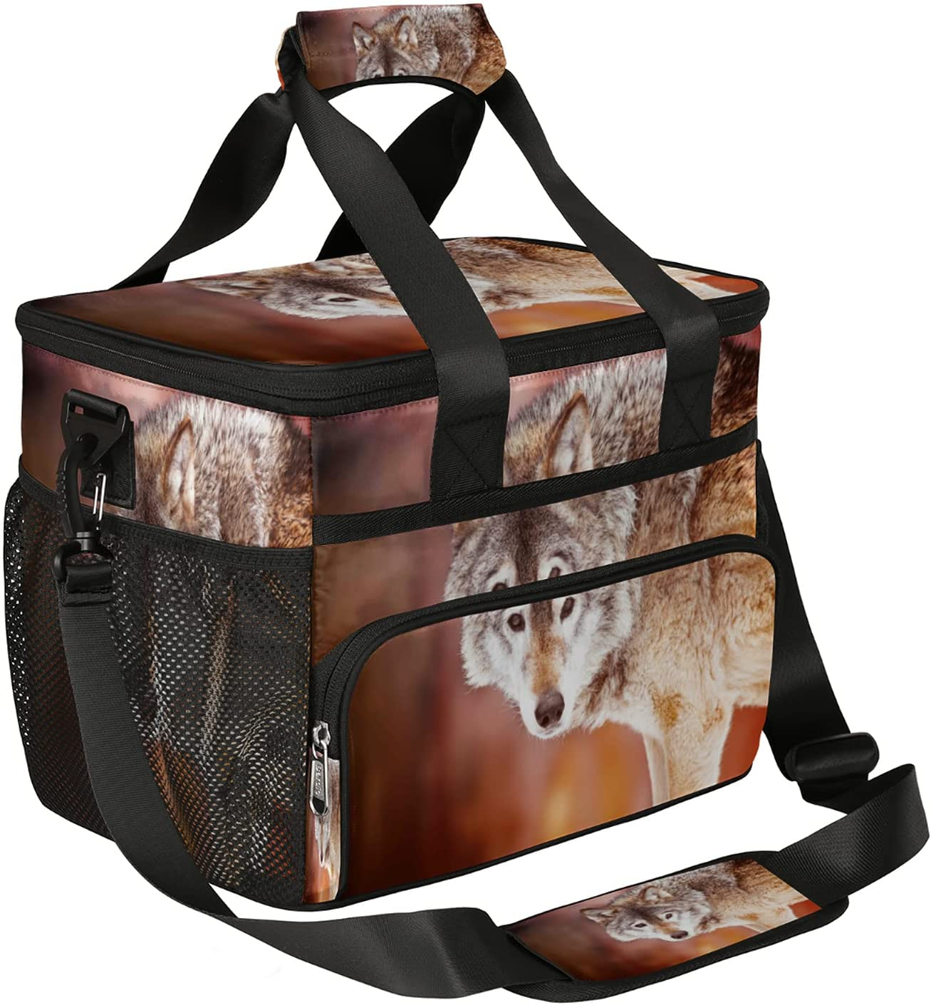 Super special price Insulated Lunch Bag Funny Philadelphia Mall Animal Reusable Leakpr Box Wolf