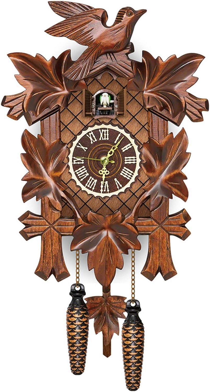 VELIHOME German Black デポー Forest 最安値 Cuckoo Style Nordic Clock Woo Retro