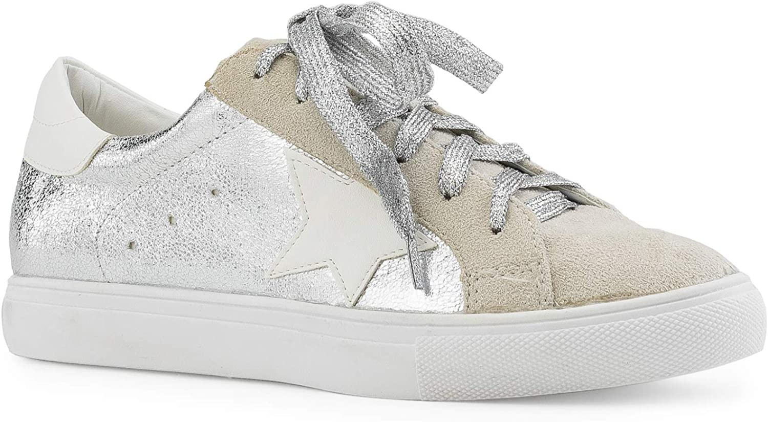 RF ROOM OF FASHION Women's Casual Low Top Trendy Fashion Sneakers Flats