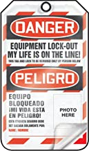 Accuform TSP107LCP Self-Laminating Spanish Bilingual Lockout Tag, Legend