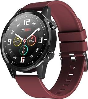 Geundampa Smartwatch, Reloj Inteligente 1.28 Pulgadas Redondo Pantalla Táctil presión Arterial/Pulsómetro Monitor/Monitoreo del Sueño Impermeable IP67 Pulsera Actividad para Mujer Hombre
