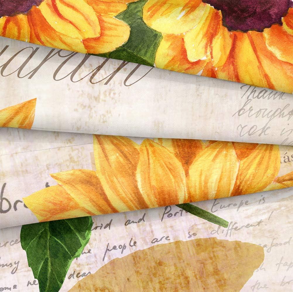 Twin, Letter Sunflower Retro Sunflowers Comforter Set Letters Sunflowers Comforter Letters Sunflowers Printed Retro Reversible Down Comforter Boys Girls Bedding Sets Twin 1 Comforter 1 Pillowcase