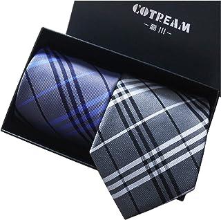 COTREAM 洗える ネクタイ 2本セット メンズ ネクタイ 高級 ギフトボックス付き ビジネス 結婚式 プレゼント