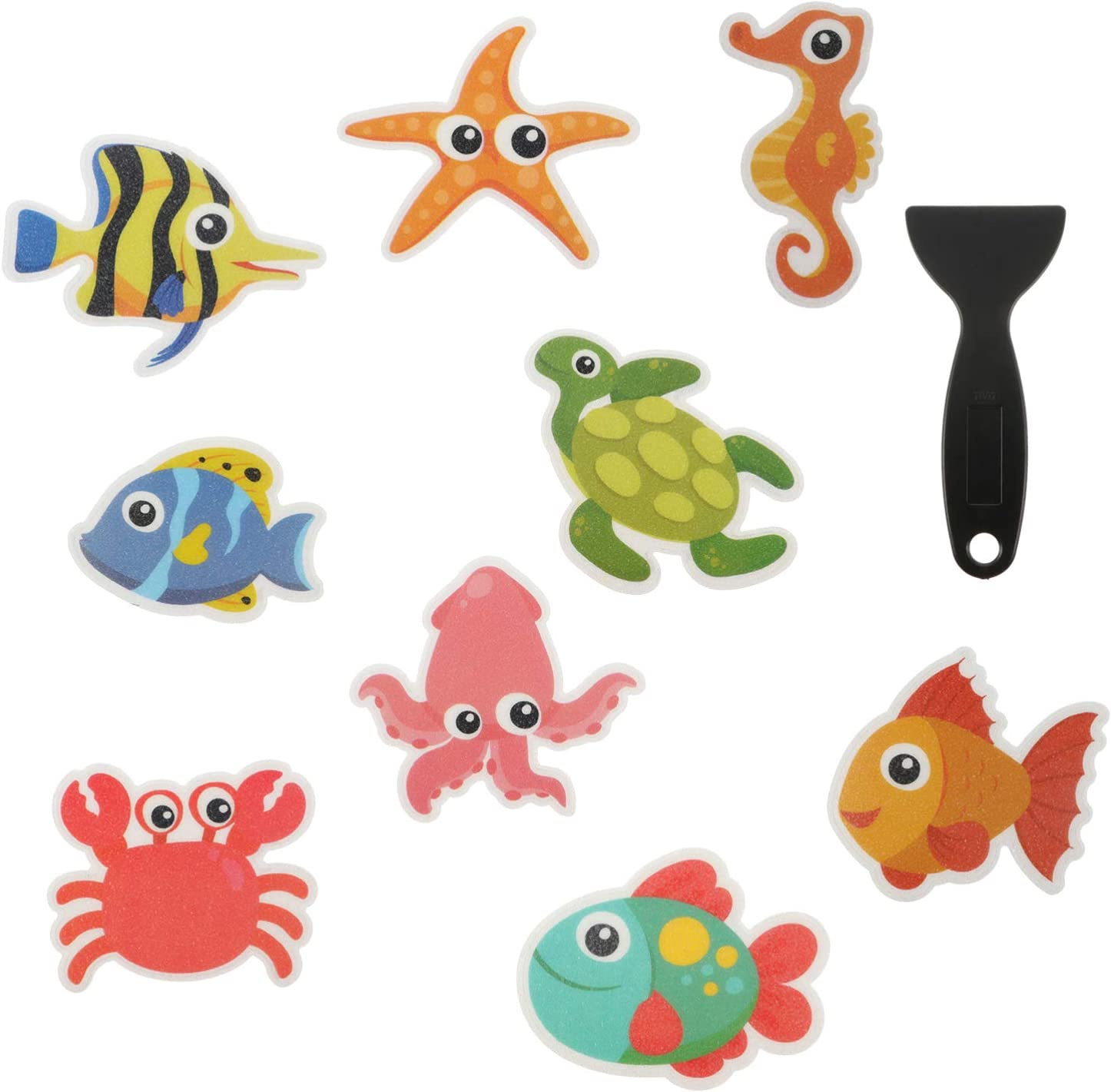 HEMOTON Non Slip Sales Bathtub Stickers Adhe Creature Las Vegas Mall Treads Decal Sea