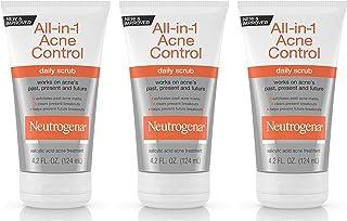 Neutrogena All-in-1 Acne Control Daily Scrub, 4.2 Fluid Ounce (Pack of 3)