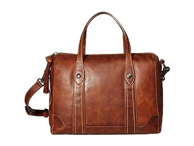 Frye Melissa Double Handle Satchel (Cognac) Handbags