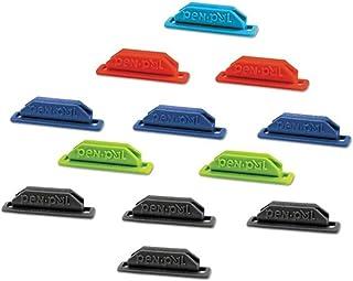 قلاب پلاستیکی پنبه ای / نگهدارنده مداد ، 5/8 x 2 5/8 x 5/8 اینچ ، رنگهای متنوع ، 12 بسته